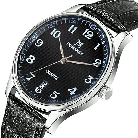 In pelle cinturino movimento al quarzo orologio , 1