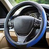 con Aghi e Filo Antiscivolo 38 cm Resistente Blu ZATOOTO Coprivolante Auto in Pelle Coprivolante da Cucire