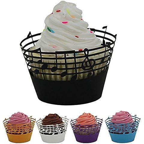 ReadiMax (TM) 25pc favor Candy cajas caja de regalo de Navidad Fiesta encaje corte láser Cupcake envoltorio regalo Candy CAJA