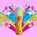 Wishtime Microphone Kids Toys(Recording,Transform Acoustic,Songs and lighting) My First Electronic Karaoke Musical Star