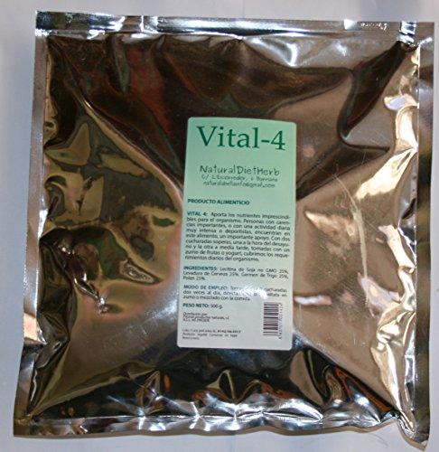 Vital 4alimento completo/fuliggine Lecitina levadura e Germen di grano. 500Grs