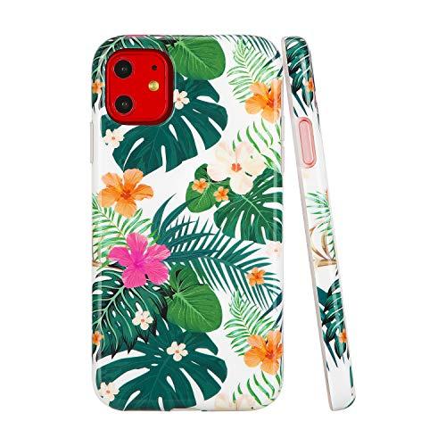 SunshineCases【Kompatibel: Apple iPhone 11】 Dünne, Ganzkörper-Schutzhülle für Damen und Mädchen, Tropical Jungle Floral