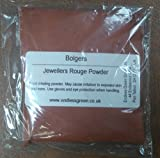 Bolpol - Jewellers Rouge Powder, for final polishing of Gold & Silver jewellery, also for removing minor scratches from glass. ROUGE POWDER 100g ...