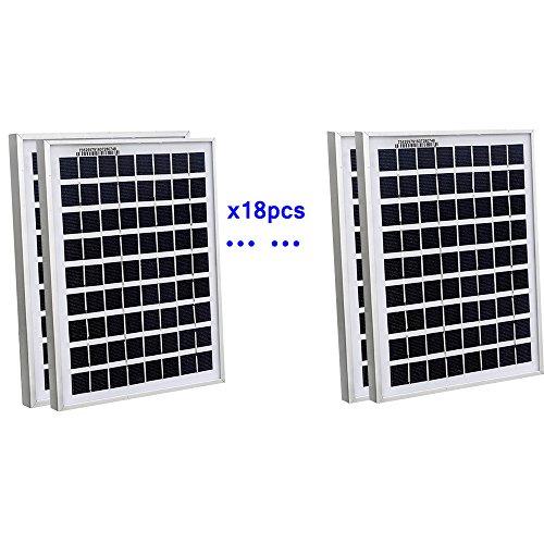 ECOWORTHY 90Watt 18pcs 5W Watt Solar Panel Ploy Solar Module 12V Battery Charger for Caravan Boat Power - Linear Battery Charger Controller