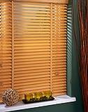 Veneciana de madera Sunlover - - 35 mm, colour blanco y negro, 135 cm x 152 cm (B x L)