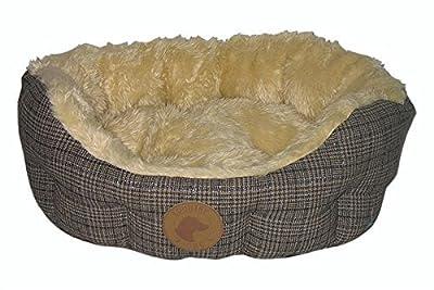 País perro–perro Tweed de Lujo–Cama con cojín reversible, base y anti slip–varios tamaños