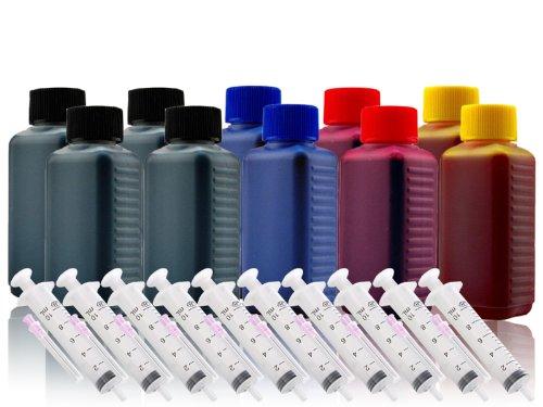 1000ml Nachfülltinte Druckertinte Refillset für CANON-Druckerpatrone PG-540 PG-540XL CL-541 CL-541XL