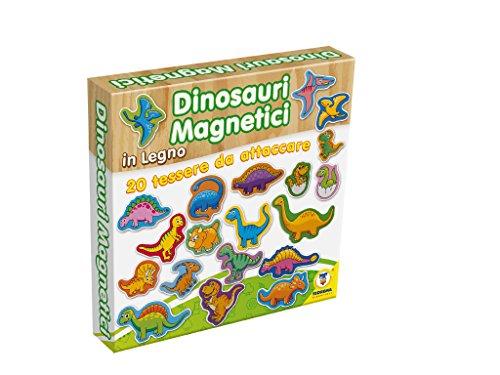 TEOREMA Satz 40525-Dinosaurier Magnet aus Holz