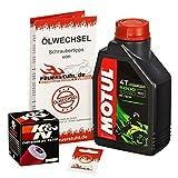 Ölwechselset Motul 5000 10W-40 Öl + K&N Ölfilter für Yamaha WR 125 R/X, Bj. 09-15 (Typ DE07); Motoröl + Filter