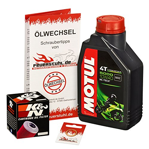 Ölwechselset Motul 5000 10W-40 Öl + K&N Ölfilter für WR 125 R/X, Bj. 09-15 (Typ DE07); Motoröl + Filter