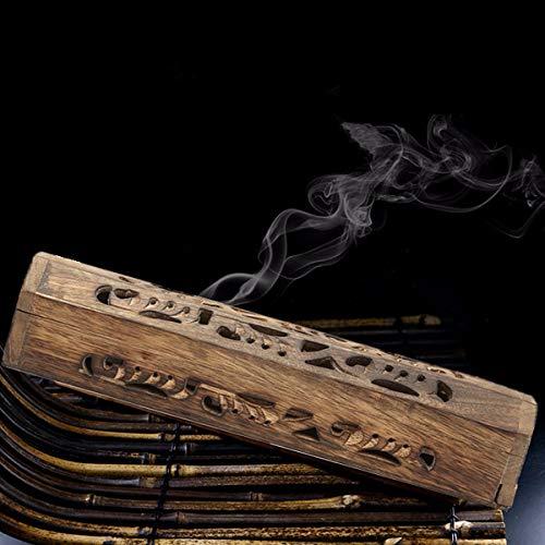 Wchaoen Mango Holz Räucherstäbchenhalter Burning Joss Box Inlay Kegel Brenner Ash Catcher Werkzeugzubehör (Holz-inlay-tools)