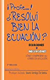 Image de ECUACIONES E INECUACIONES; CÓMO COMPROBAR SU CORRECTA SOLUCIÓN