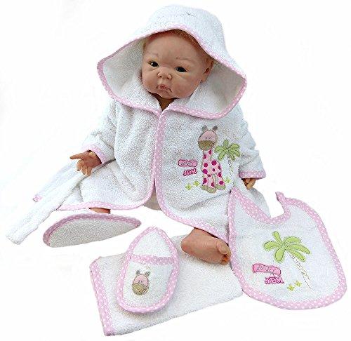 baby-albornoz-rizo-jirafa-con-guantes-manopla-y-babero-3888bpb-nina-material-100-algodon-rosa-xxxxs