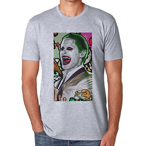 Joker Character Suicide Squad Herren T-Shirt Grau