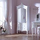 Pays Blanc Range-Antik Weiß verspiegelt Closet
