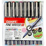 Luxor Finewriter Assorted color (Pack of 10 Pen)