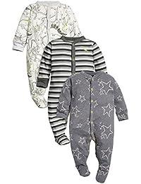 next Bebés Niños Paquete De 3 Pijamas Peleles Dinosaurio Monocromo De Algodón (0 Meses-2 Años)