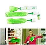 JM® GOTD Multifunktionale Elektrische Grüne Staubwedel Staub Reinigungsbürste Für Jalousien Möbel Tastatur Reinigung (Grün)