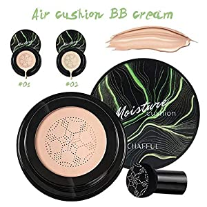 kingpo Xiangfuer Mushroom Head Air Cushion BB Cream Air Cushion Foundation Cream Corrector Herramienta de Maquillaje cosmético para Mujeres 20 ml