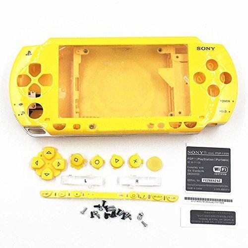 Gehäuse Case Shell mit Schaltflächen Schraubenzieher für Sony PSP 10001001–Gelb