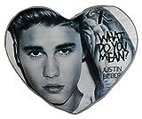 Justin Bieber Coussin peluche en forme de c?ur, Multi