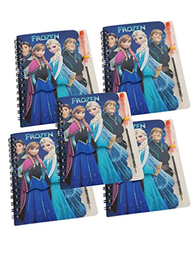 Set of 5 Small 3D Frozen Elsa & Anna Diary / Frozen Diary with Pen for Gift / Frozen Elsa & Anna Diary  available at amazon for Rs.349