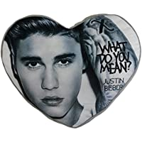 Justin Bieber-Cuscino in peluche a forma di cuore, (Miller Cuscino Decorativo)