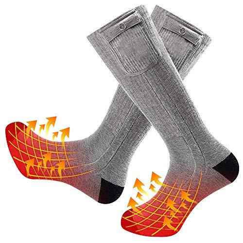 Bixinyaan calze di riscaldamento,usb ricaricabile regolabile temperatura riscaldamento calze motocicletta calze invernali in cotone caldo per piedi cronicamente freddi,scaldapiedi calze riscaldate