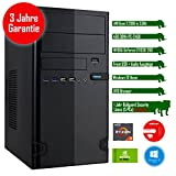 Rhino Rapid a2210 W10 mit Windows 10 I AMD Ryzen 3 2200G 4x 3.5 GHz I 4 GB DDR4 I NVIDIA GeForce GT1030 2 GB I MSI I 120 GB SSD I DVD-Brenner I Xilence Cooler & Netzteil I USB 3.0 | Gigabit-LAN | 7.1-Kanal-Sound I Bullguard Internet Security Lizenz 1 Jahr / 5 PCs I 36 Monate Garantie