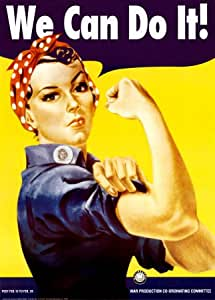 Affiche géante 'We Can Do It! Rosie la riveteuse', de J. Howard Miller, Taille: 102 x 140 cm