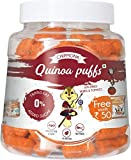 #1: Chipmonk Quinoa Puffs Sundried Herbs and Tomato, Pet Jar 90gm + Free Chipmonk Quinoa Puffs 35gm Pack(Traditional Spices) worth Rs 50, Veg, Gluten free, Healthy snacks, Protien, fiber rich (Sundried Herbs and Tomato)