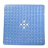 LEXPON Badezimmer Anti-Rutsch-Matte quadratische Badewanne Duschmatten Anti-bakterielle Schimmel resistent Antirutschmatte (Blau)