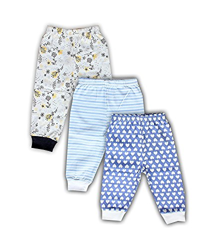 Mini Berry Full Rib Legging Set of 3 For Baby Boy Multi Color Combo (2-3 years)  available at amazon for Rs.325
