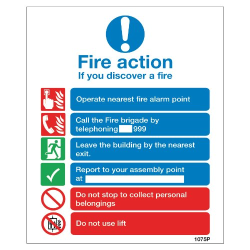 fire-action-sign-2-if-you-discover-a-fire-high-quality-print-finish-on-rigid-plastic-fast-shipping