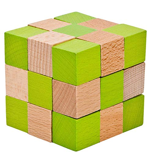 B-appliance Lock (Wooden Puzzle Lock Magic Cube Toy,Mamum Wooden Toy IQ Brain Teaser Adults Educational Kids Puzzle Game Intelligence game (B))