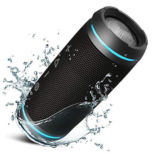TREBLAB HD77 - Tragbare Bluetooth Lautsprecher Portable Bluetooth Speaker - 360° True Wireless Stereo, Loudest 25W HD Sound, Loud Powerful Bass, 12H Play, Ambient LED, for Sports Outdoors Wasserdichte Stereo-lautsprecher