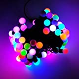 JnDee™ 5M 16feet 50 LED Colour Changing Fading Twinkling LED Mains Powered Christmas Fairy Lights with Berry Covers for Christmas Tree Wedding Parties Decoration Each LED slowly fades between colours: Red, Yellow, Orange, Blue, Turquoise, Pink, Green