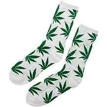 Calcetines de talla única, confortables, para hombre y mujer, color negro/verde/rojo