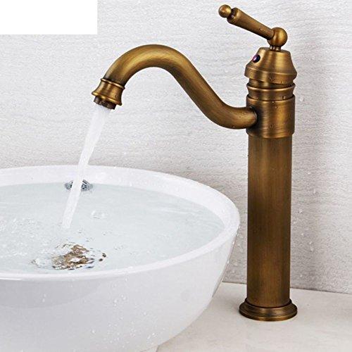 Einstellbare Zähler (Europäische antike Kupfer Wasserhahn voll/Rotierende Wasser über Zähler Waschbecken Wasserhahn/Einstellbare heiß und kalt)