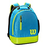 WILSON Unisex Jugend Youth Backpack Tennis Bag, Bright Blue/Lime, 2 Rackets