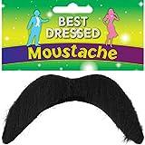 Mens Stick On Black 1970s 118 118 Mario Luigi Mexican 60s Moustache Fancy Dress Costume Outfit Accessory