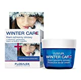 Floslek WINTER CARE Schutz-Creme mit Mandelmilch und Vitamin E | 50 ml | Gesicht, Dekollete und Hand-pflege | Ausgezeichneter Winterschutz der Haut | Frauen und Männer