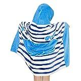 Kinder Kapuzen Poncho Bade Strandtuch Badetuch - Jungen Bademantel Handtuch Mädchen Badeponcho 100% Baumwolle Baby Kapuzentuch