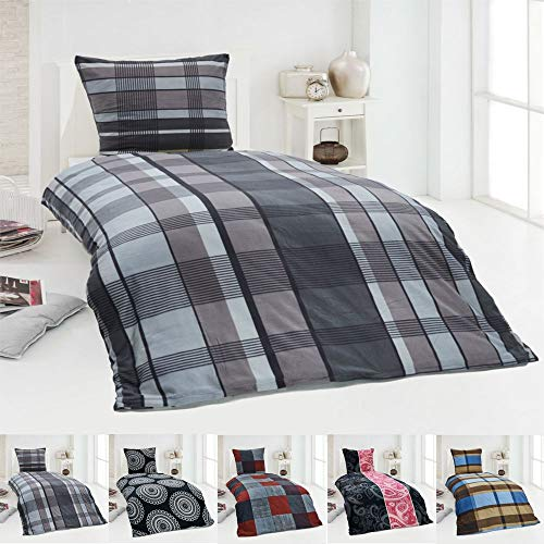 Dreamhome24 Warme Winter Microfaser Thermo Fleece Bettwäsche 135×200 155×220 200×200 Moderne