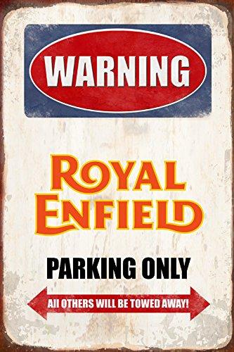 Warning Royal Enfield Parking only park schild tin sign schild aus blech garage