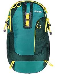 Hi-Tec – Graz – Mochila de senderismo, 52 cm, 30 L, color verde/amarillo