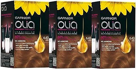 3X Garnier Olia Cuivré Doré Cuivre Miel–Coloration Permanente