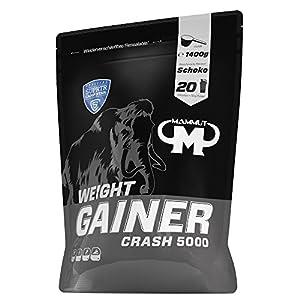 Mammut – Weight Gainer Crash 5000 Schoko Kohlenhydrate Masseaufbau Kreatin, 1400 g Beutel