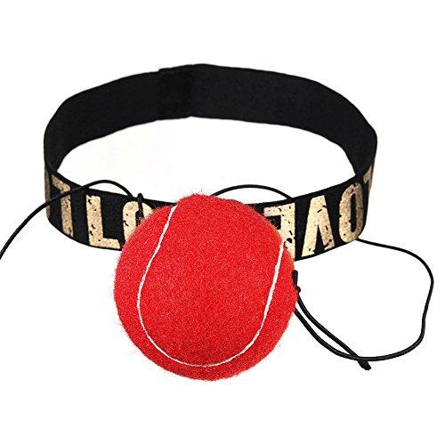 zreal Ball-Kampf und Stirnband für die Ausbildung von Reaktionsgeschwindigkeit Reflex Ausübung Boxen Henkellocheisen