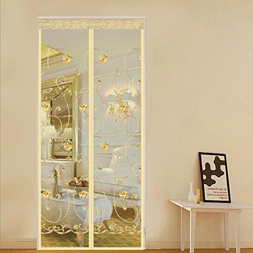 LIFEING Sommer Anti moskito Vorhang Selbstklebendem Klettband Haushalt Wohnzimmer Schlafzimmer verschlüsselung magnetische Tür transparente Magnetvorhang-B-90x210cm(35x83inch)